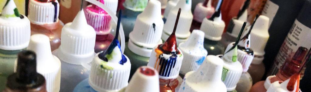 alcohol ink bottles