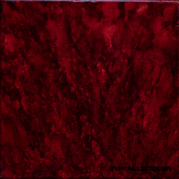 Alcohol ink painting Red and dark red creating lines up and down and out that creates visual texture
